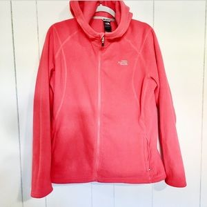 The North Face Bright Coral Fleece Zip Up Size XL